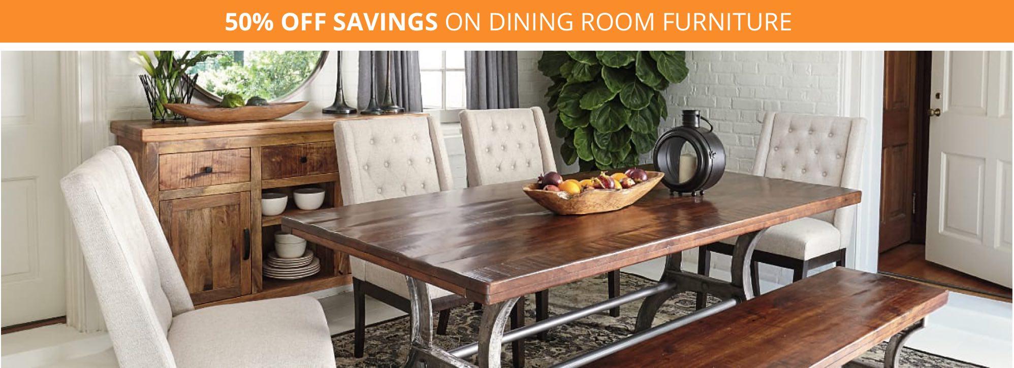 50% Off Savings On Dining Room Furniture
